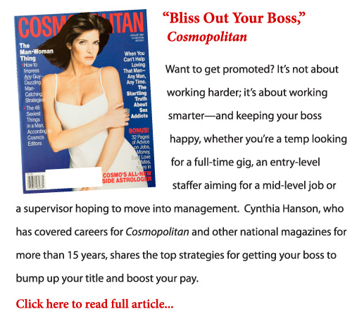 """Bliss Out Your Boss"" excerpt and cover"